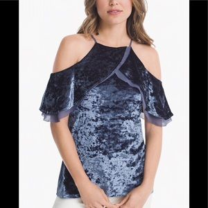 White House Black Market Crushed Velvet Top